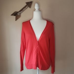 Old Navy Red Wool Cardigan